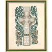 Cream/Green Celtic Cross Irish Overlay Stole