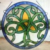 Stained Glass Irish Celtic Tree of Life Window Ornament