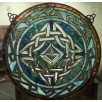 Stained Glass Irish Celtic Window Decor Multi Color