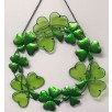 Wreath of Irish Shamrocks Suncatcher