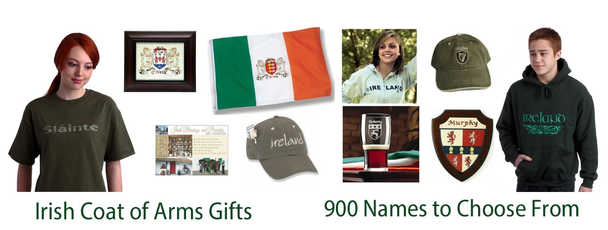 Irish Coat of Arms Gifts - Mugs - Flags - Apparel