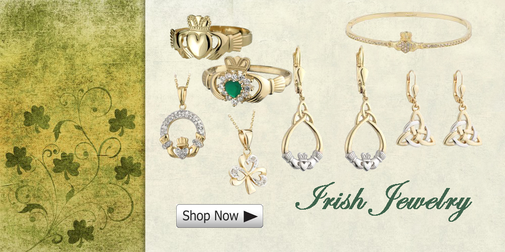 irish jewelry- claddagh rings - shamrock -celtic knot
