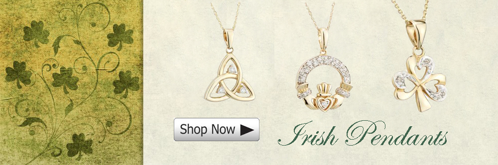 irish pendants - claddagh- shamrock- trinity knot